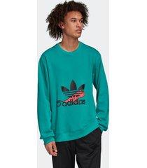 blusã£o adidas sweatshirt originals verde - verde - masculino - dafiti
