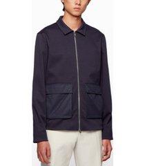 boss men's contrast-pocket regular-fit jacket