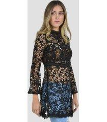 vestido de encaje de mujer exotik ew173-1117-774 negro