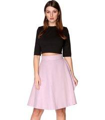 spódnica trapezowa różowa