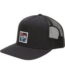 men's billabong stacked trucker hat - black