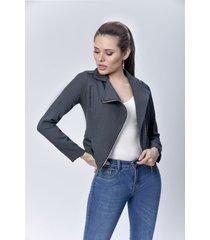 chaqueta biker dama gris di bello jeans ® classic jeans ref c075