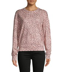 leopard-print cotton-blend sweatshirt