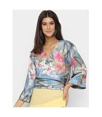 blusa vida bela kimono feminina