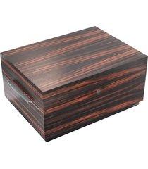 connoisseur 200 humidor cigar case - macassar