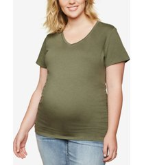 motherhood maternity plus size ruched t-shirt