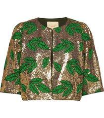 trine jacket blazers bouclé blazers goud lollys laundry