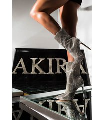 akira azalea wang never settle for less stiletto heel bootie