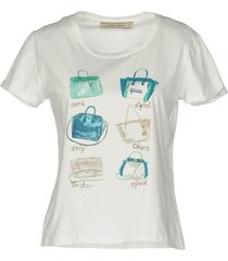 very simple off white t-shirt met strass