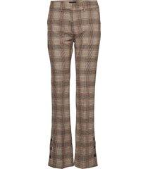 clara 614 long pantalon met rechte pijpen bruin fiveunits