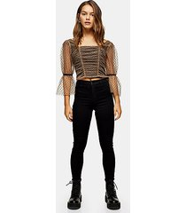 petite black belt loop joni jeans - black