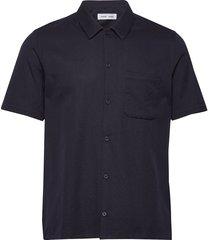 avan jf shirt 11018 overhemd met korte mouwen blauw samsøe samsøe