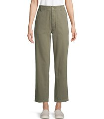 re/done women's high-rise cotton military pants - olive - size 25 (2)
