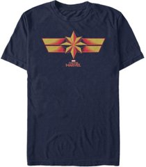 marvel men's captain marvel retro costume chest logo, short sleeve t-shirt