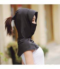 sombrero equitación exterior máscara visor damas de verano malla tra