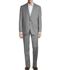 lauren ralph lauren men's lexington standard-fit pinstriped wool-blend suit - light grey - size 40 s