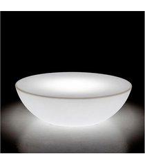 mesa de centro led wi-fi/table white out - 80x80x21