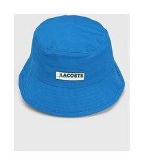 chapéu lacoste logo azul