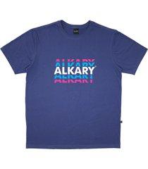 camiseta alkary logotipia azul - kanui