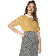 blusa amarillo-blanco paris district