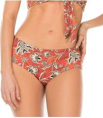 panty arabesque flores rojo