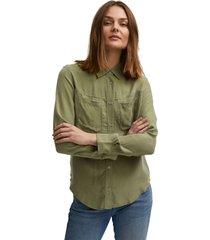 denham denise shirt ec green