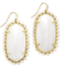 kendra scott gold-tone beaded danielle drop earrings