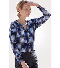 shirt mona marine::royal blue::wit