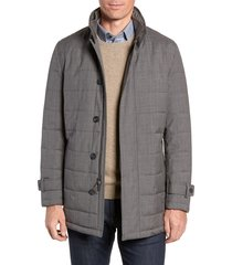 men's cardinal of canada quilted car coat, size xx-large - grey
