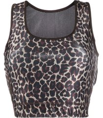 golden goose top esportivo animal print - verde