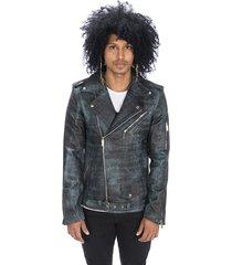 chaqueta de cuero negro azulado la chamarra new york