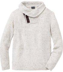 maglione con collo a scialle (beige) - rainbow
