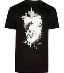 river island mens big & tall black skull slim fit t-shirt