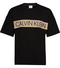 s/s sweatshirt t-shirts short-sleeved svart calvin klein