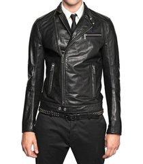 mens slim-fit leather jacket , mens leather jacket, slimfit leather jacket
