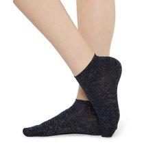 calzedonia - glittery pop socks, one size, blue, women