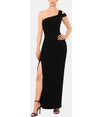 betsy & adam petite one-shoulder gown