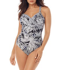 women's miraclesuit fronds with benefits seraphine one-piece swimsuit, size 10 - black
