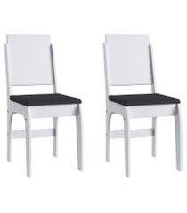conjunto de cadeiras móveis canção 916 2 peças assento estofado