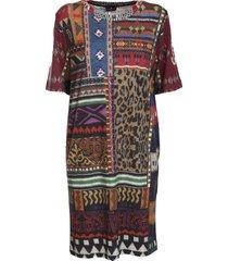 etro crewneck wool dress, decorated