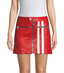 the ferrara racer stripe leather skirt