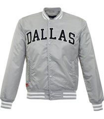 schott stadium silver bomber jacket pens1725