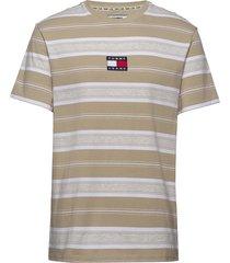 tjm stripe logo tee t-shirts short-sleeved multi/mönstrad tommy jeans