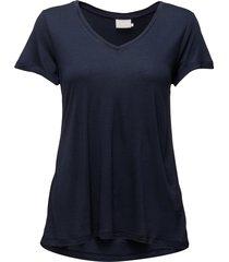 anna v-neck t-shirt t-shirts & tops short-sleeved blå kaffe