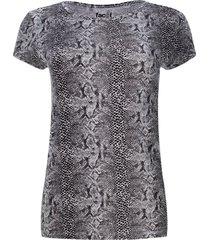 camiseta estampado abstracto unicolor color negro, talla s