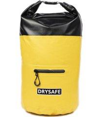 mochila morral 30 litros waterproof amarillo drysafe