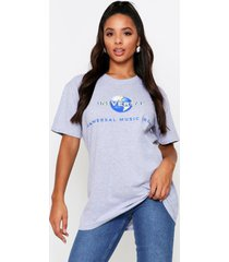 universal music oversized license t shirt, grey marl