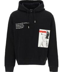 dsquared2 hoodie logo sweatshirt