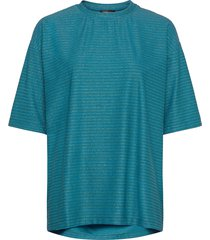 boris, 850 glitter jersey t-shirts & tops short-sleeved blå stine goya