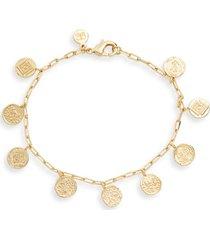 women's gorjana ana coin bracelet